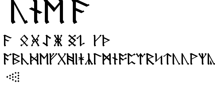 Rune A font