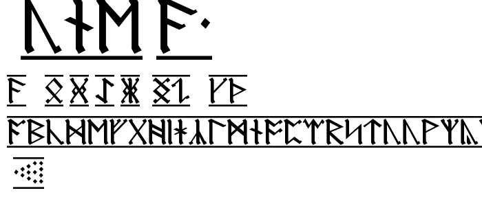 Rune A1 font