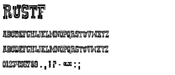 Rustf font