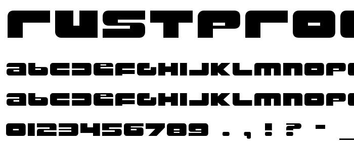 Rustproo font