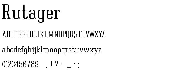 Rutager font