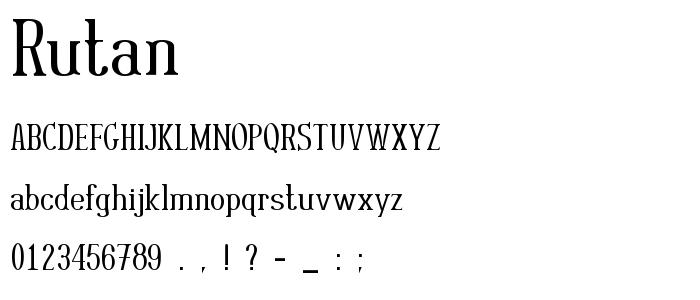 Rutan font