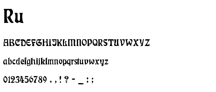 Ru font