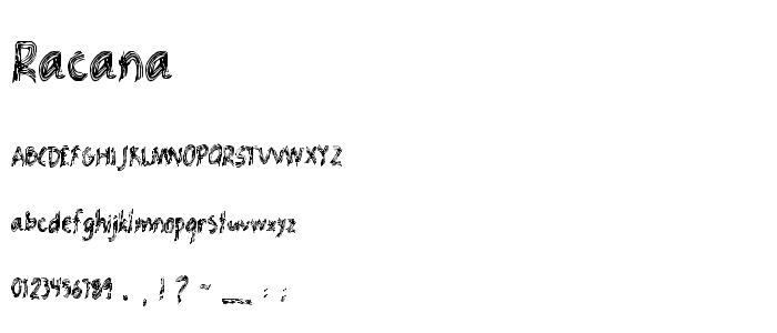 Racana.ttf font
