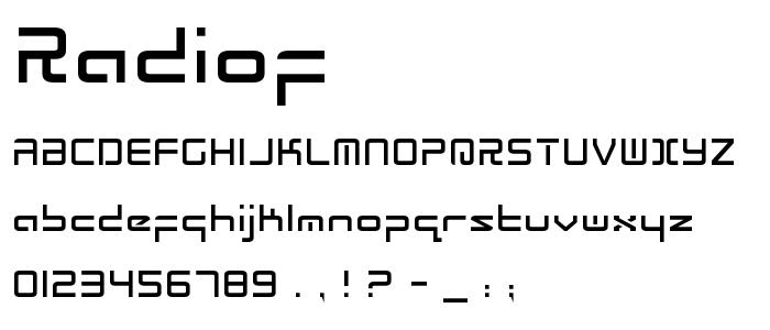 Radiof font