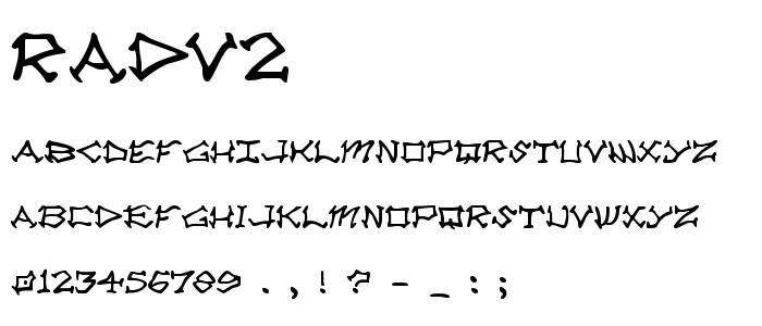 Radv2 font