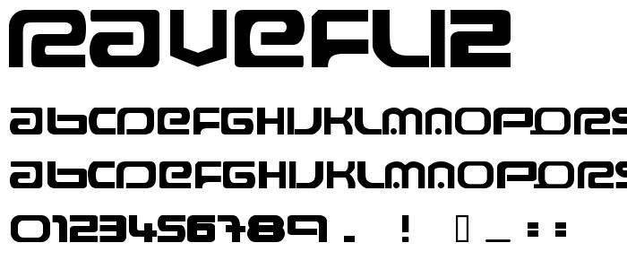 Ravefli2 font