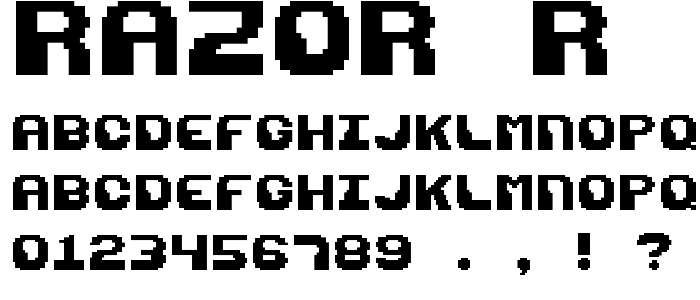 Razor R font