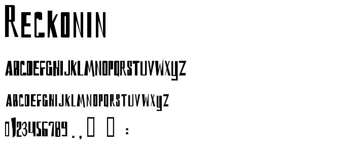 Reckonin font