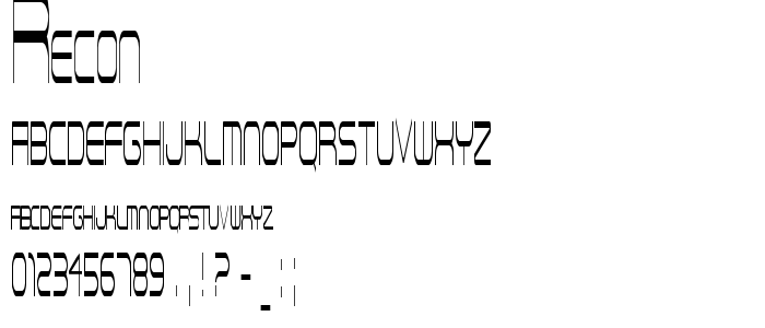 Recon font