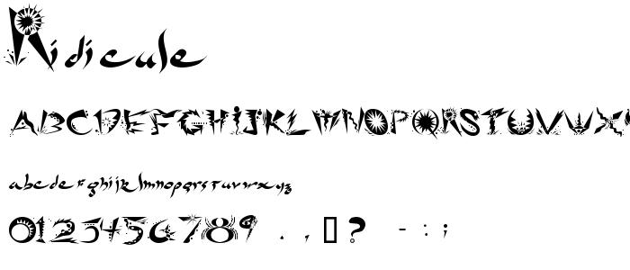 Ridicule font