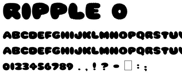 Ripple 0 font