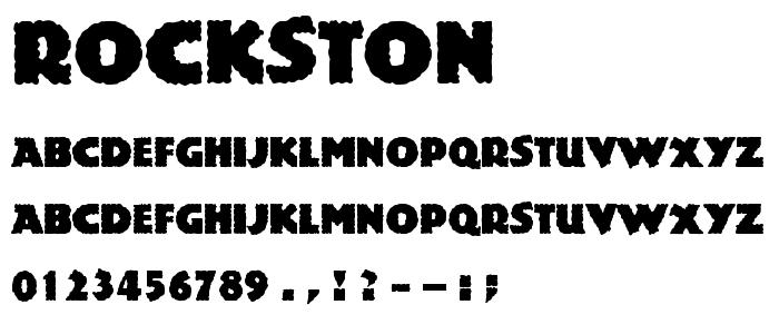 Rockston font