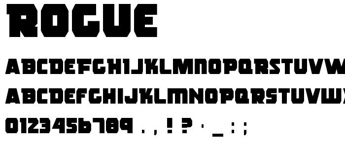 Rogue font