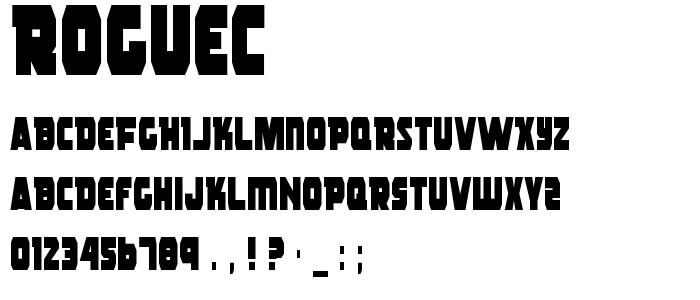 Roguec font