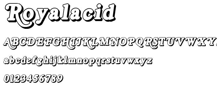 Royalacid O font