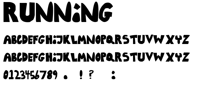 Running font