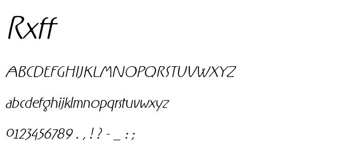 Rxff font