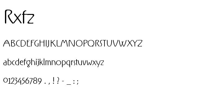Rxfz font