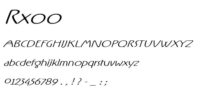 Rxoo font