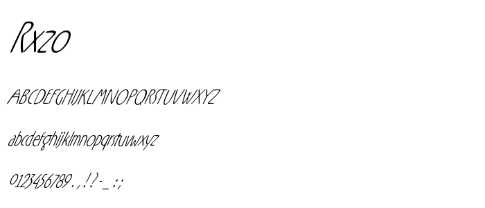 Rxzo font