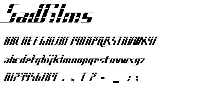 SADFILMS.TTF font