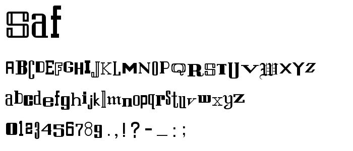 SAF.TTF font