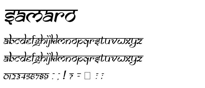 SAMARO__.TTF font