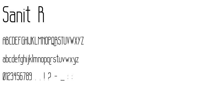 Sanit R font