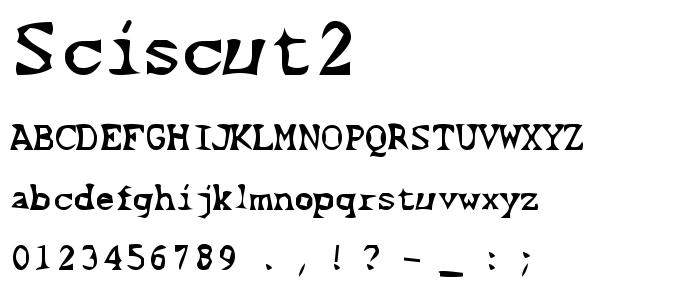 Sciscut2 font