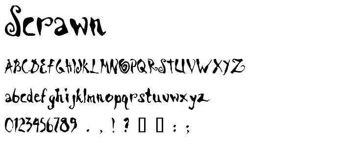 Scrawn font