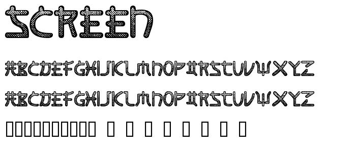 Screen font