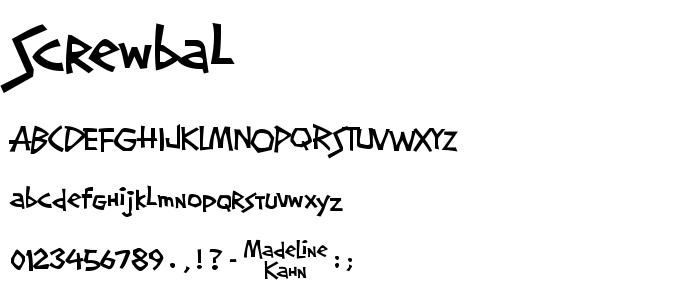 Screwbal font
