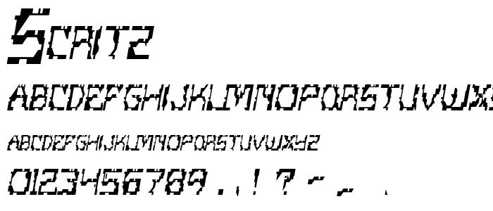 Scritz font
