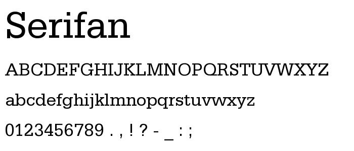 Serifan font