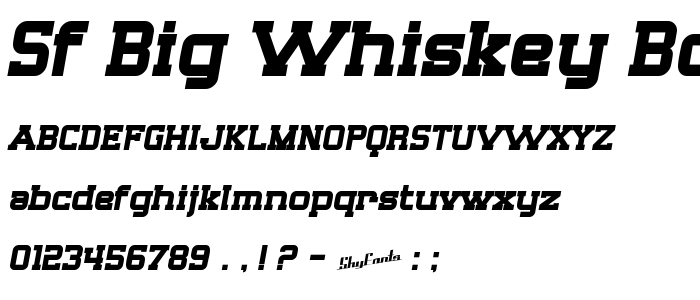 Sf Big Whiskey Bold Free Font Download - Font Supply