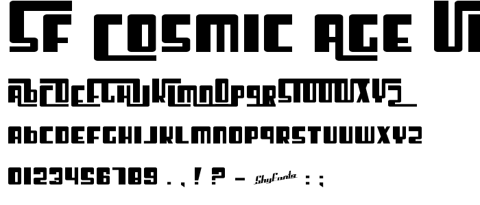 Sf Cosmic Age Upright Bold font