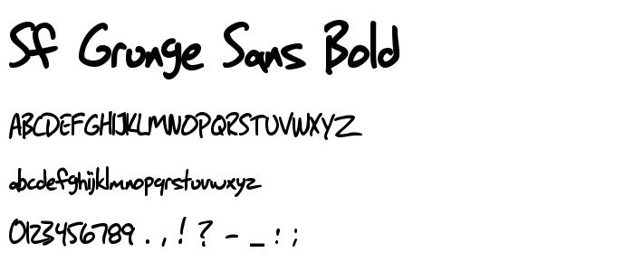 Sf Grunge Sans Bold Free Font Download - Font Supply