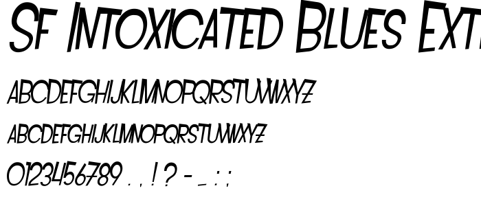 Sf Intoxicated Blues Extended Oblique font