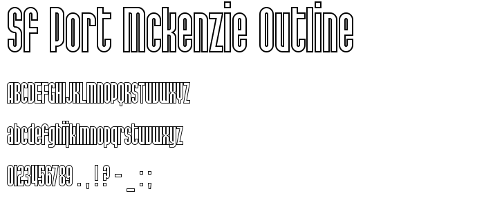 Sf Port Mckenzie Outline font