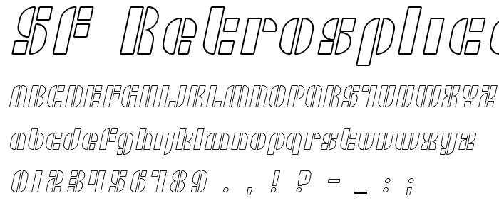 Sf Retrosplice Outline Free Font Download - Font Supply