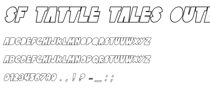 Sf Tattle Tales Outline Italic font