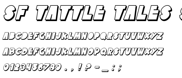Sf Tattle Tales Shadow Italic font