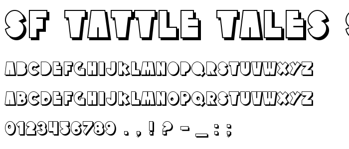 Sf Tattle Tales Shadow font