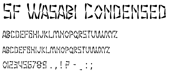 Sf Wasabi Condensed font