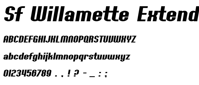 Sf Willamette Extended Bold Italic Free Font Download - Font