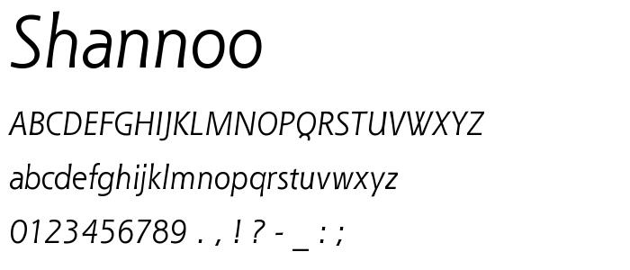 Shannoo font