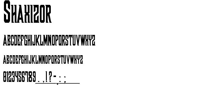 Shaxizor font