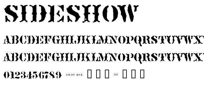 Sideshow font