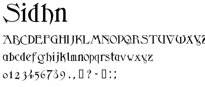 Sidhn font